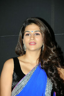Actress Shraddha Das  Pictures in Saree at Rey A to Z Look Launch 0002.jpg