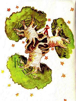 El Principito con los baobabs