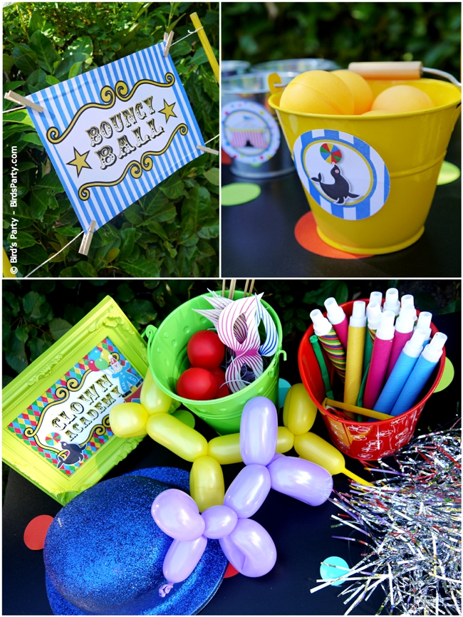 Big Top Circus Carnival Inspired Birthday Party Ideas and Printables Games and Activities