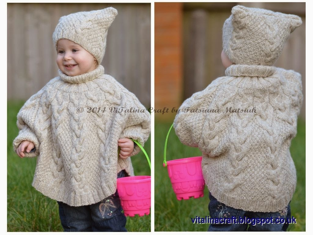 Vanilla Cloud Poncho and Hat Set | ViTalina Craft