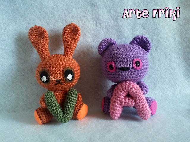 conejo oso amigurumi rabbit bear crochet ganchillo