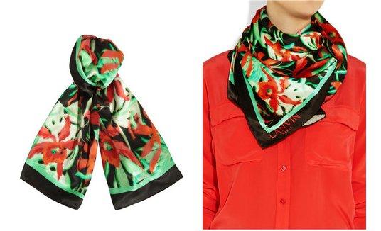 Lanvin scarf, foulard in set Lanvin