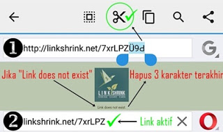 Cara Download di linkshrink di android