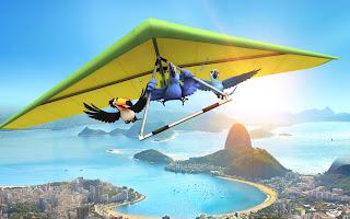 Blue Parrots Deltoplan Rio Movie HD Wallpaper
