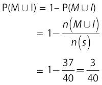 Peluang seorang tidak gemar matematika maupun IPA