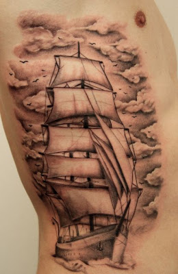 Rib Ship Tattoo