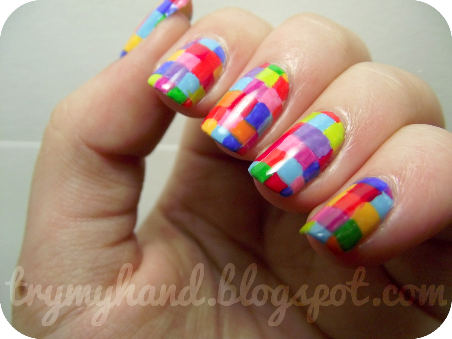 Try My Hand: NOTD : Stained Glass Nails