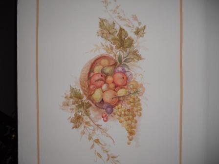 Frutta e foglie in casa d 39 epoca decorazioni pittoriche - Decorazioni pittoriche ...