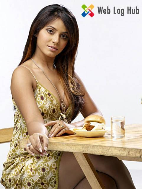 Sexy Actress Neetu Chandra Hot Boobs and Thighs Showing in a Dining Table - Web Log Hub