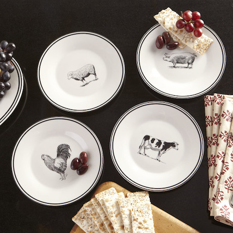 I have been finding a lot of beautiful salad/dessert plates lately. Since I rarely buy entire sets of dishes any more I tend to look for these plates to ... & GAFunkyFarmhouse: Wish List Wednesdays: Farm Animals Ceramic Dessert ...