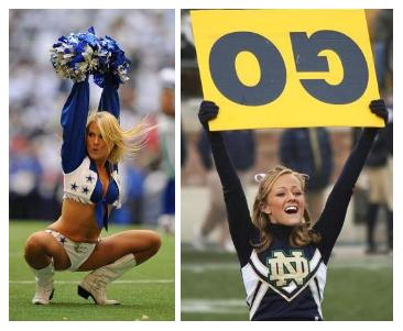 cheerleader fail, cheer leading oops moments - Blue Image