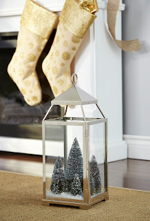 Christmas lantern with mini trees | CANVAS Christmas Collection | RamblingRenovators.ca