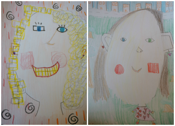 picasso portraits created by kids