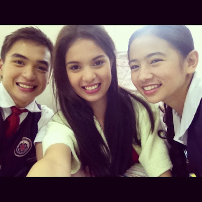 Dom Roque with Michelle Vito and Ella Cruz