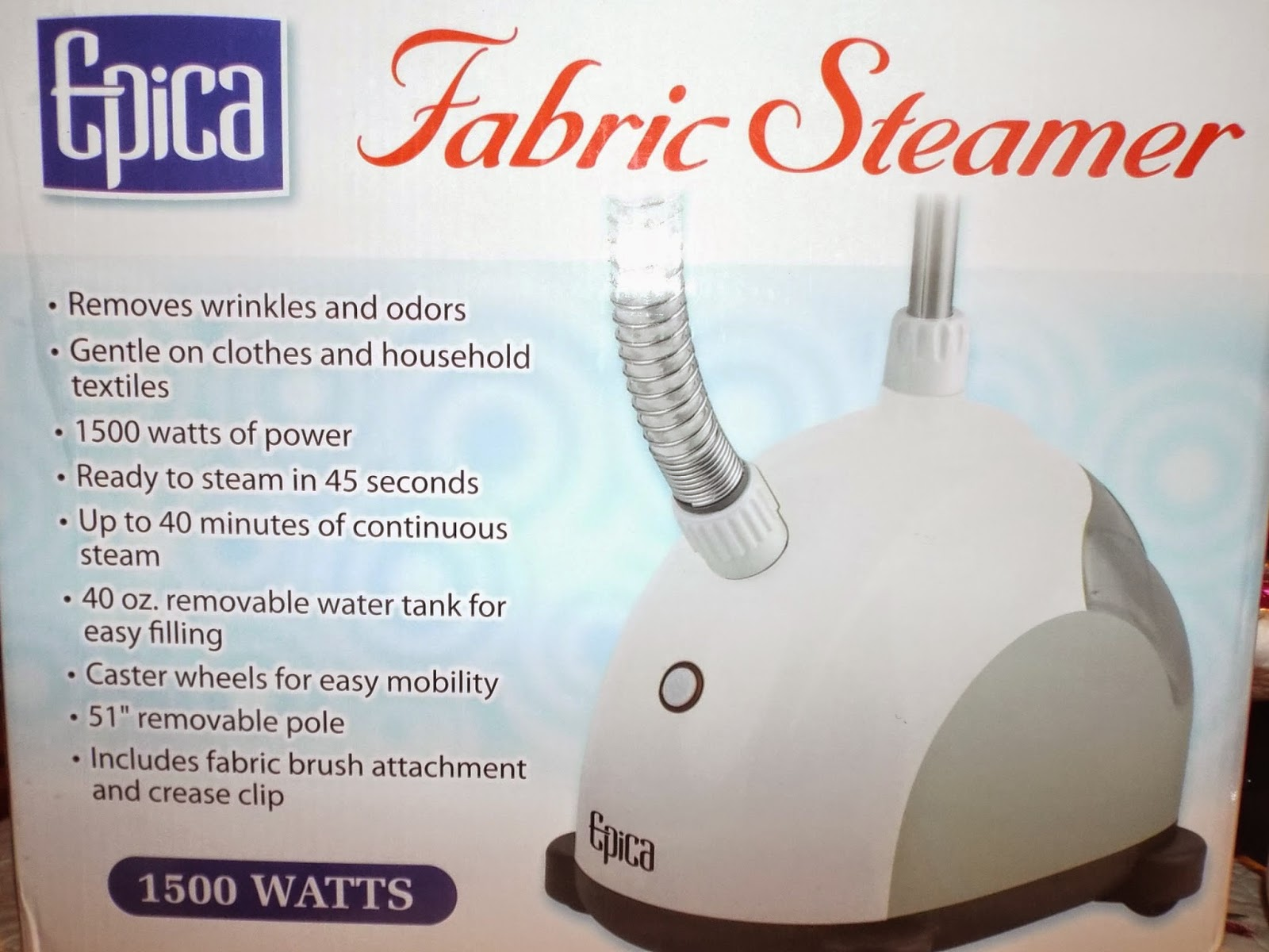 Epica 1500 Watts Fabric Steamer