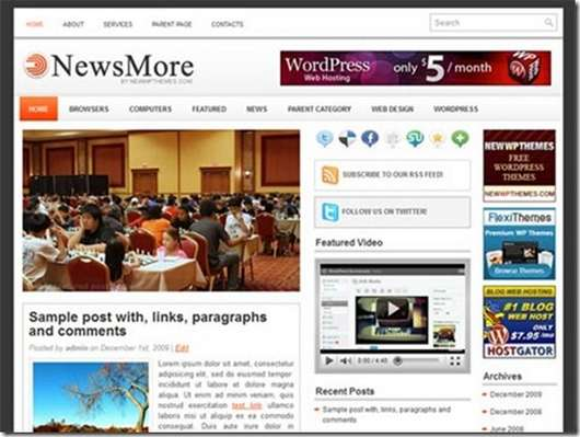 Download NewsMore WordPress theme