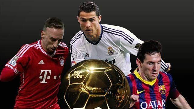 الفيفا: ميسي كريستيانو وريبيري سيتنافسون على الكرة الذهبية
