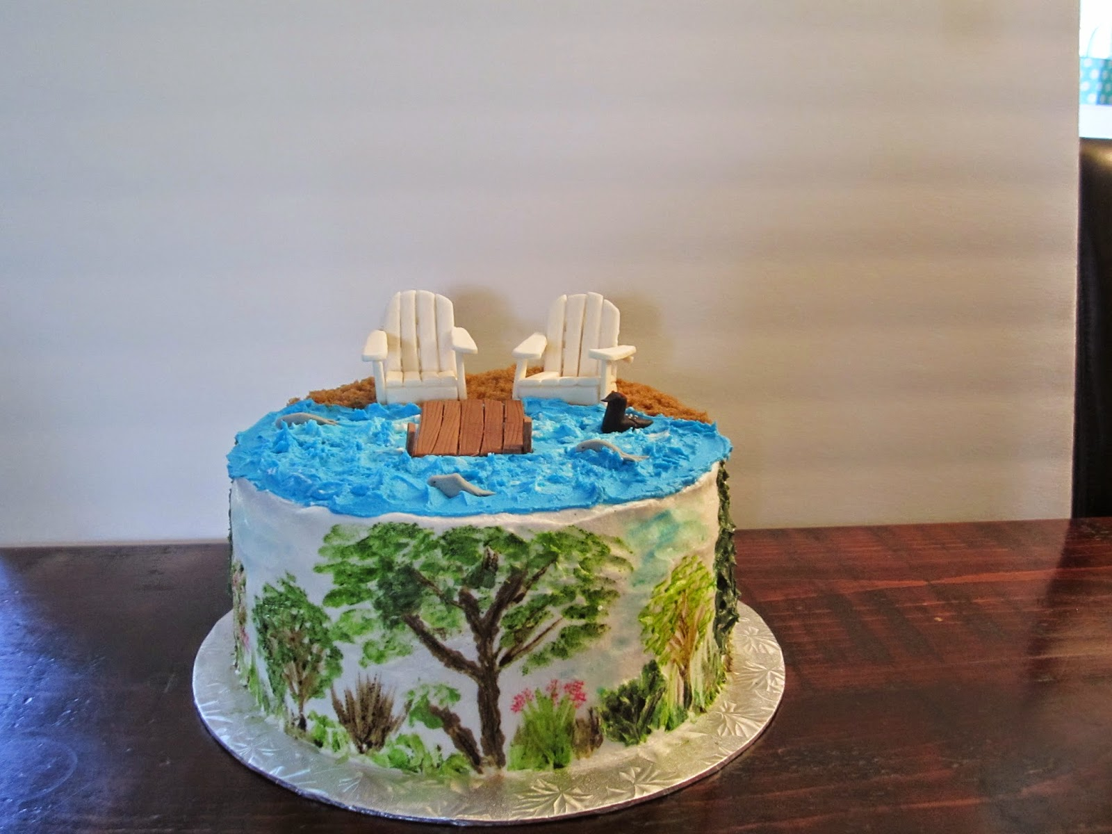 CakesOr Something Like That Buttercream Painted Nature Cake