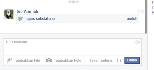 Cara Mengirim File Lewat Facebook