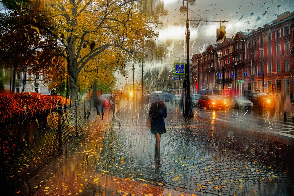 05-Eduard-Gordeev-Гордеев-Эдуард-Photographs-in-the-Rain-that-look-like-Oil-Paintings-www-designstack-co