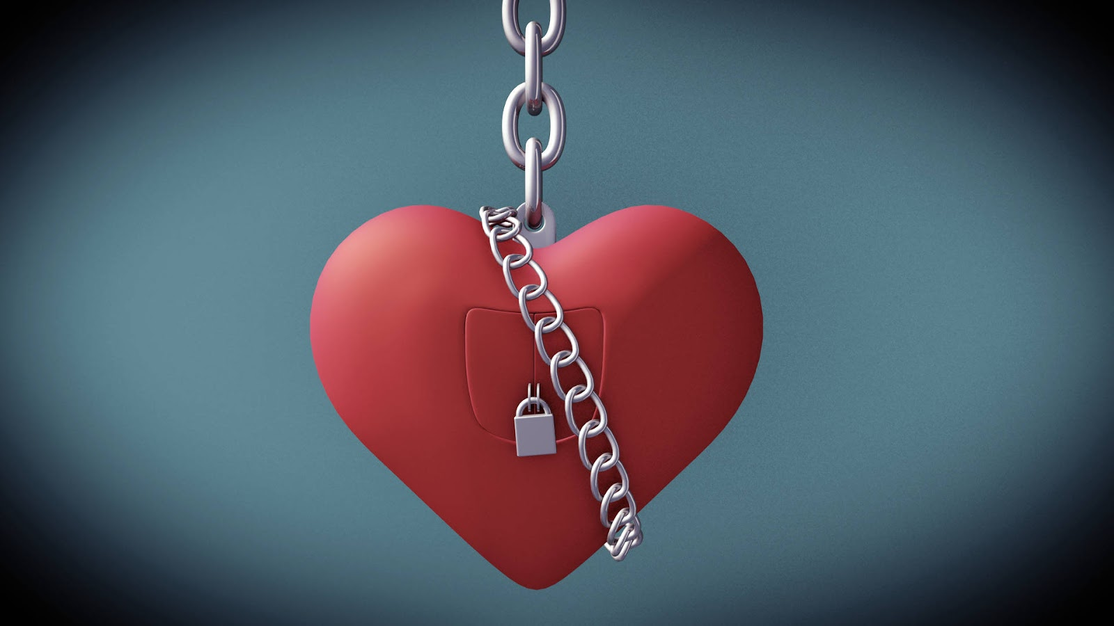 Red Lock Heart