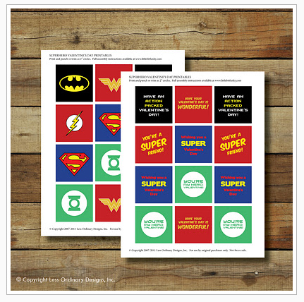 SUPERHEROES+PRINTABLE Party Simplicity Comic Book Super Heroes Boys Party Ideas
