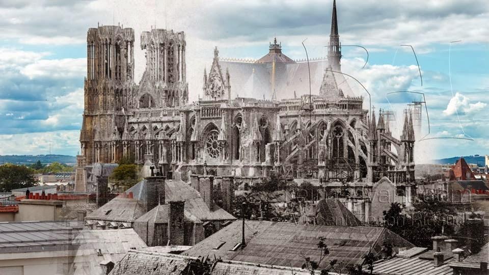 Cathedrale Reims Detruite Cathédrale Notre-dame de Reims