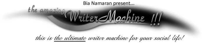 the amazing Writer Machine!
