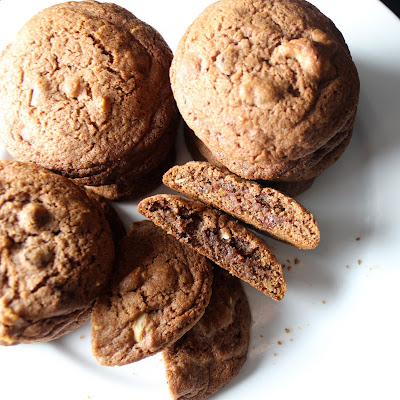 Chocolate Walnut Malt Cookies