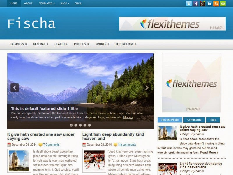 Fischa - Free Wordpress Theme