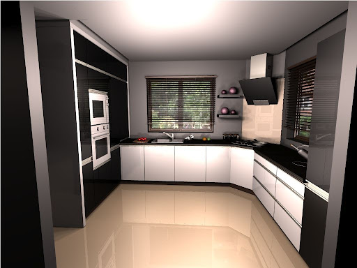 Home Sweet Home Biało czarna kuchnia