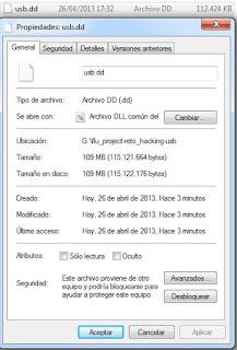 OSFMount: Datos de la imagen USB