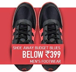 Shoe away Budget Blues: Get Men's Footwear just below Rs.399 Only @ Flipkart