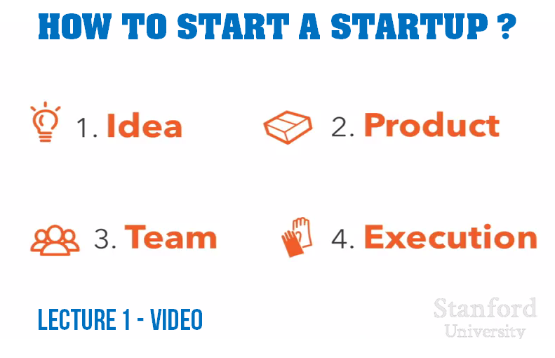Lecture 1 - How to Start a Startup ?  Y-Combinator Classes From Stanford University