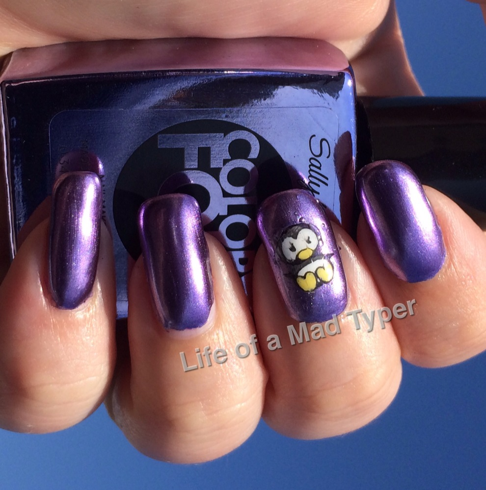 Sally Hansen ColorFoil Purple alloy
