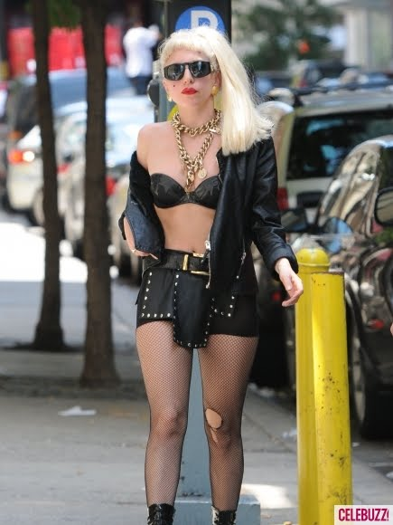Lady Gaga Multiple Skin-Baring Outfits Photos