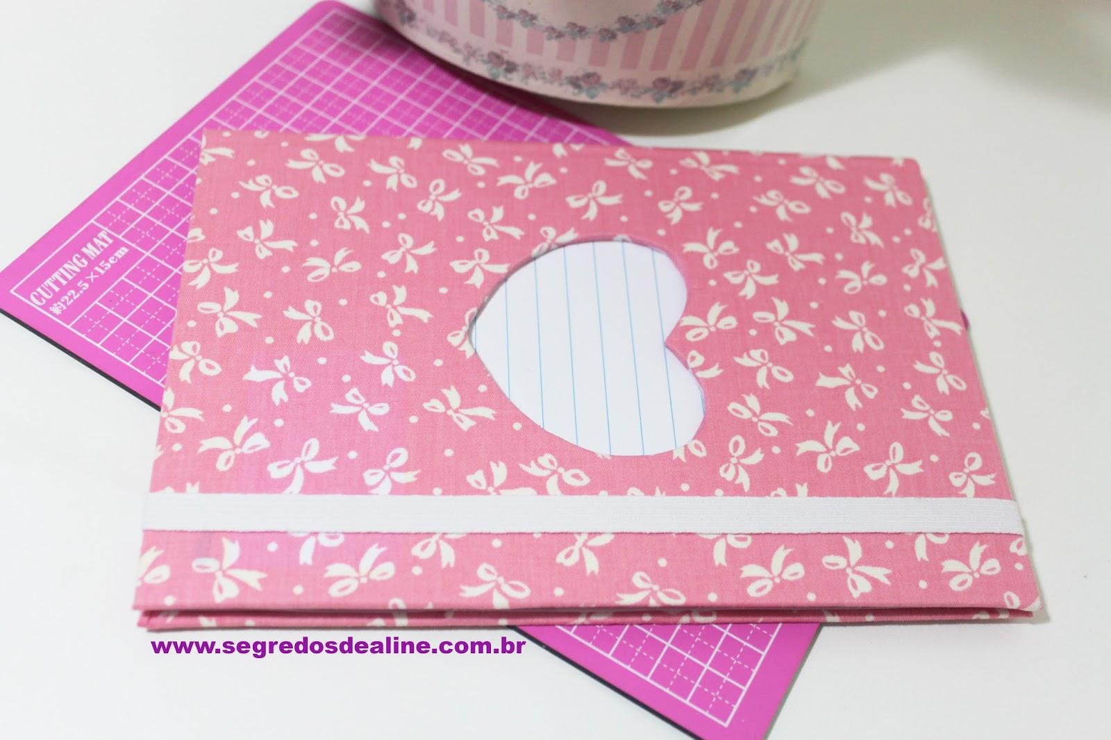 Segredos De Aline Caderno Customizado Com Tecido Volta às Aulas