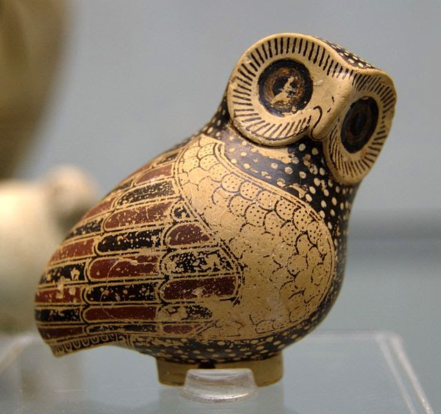Aryballos owl 630 BC Staatliche Antikensammlungen
