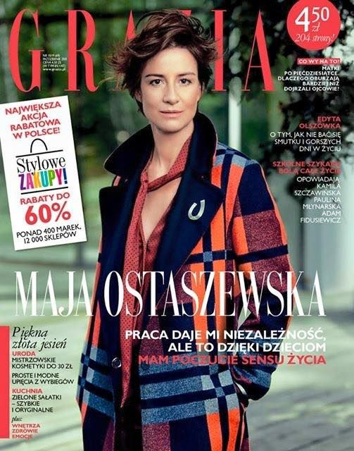 Actress @ Maja Ostaszewska - Grazia Poland, October 2015