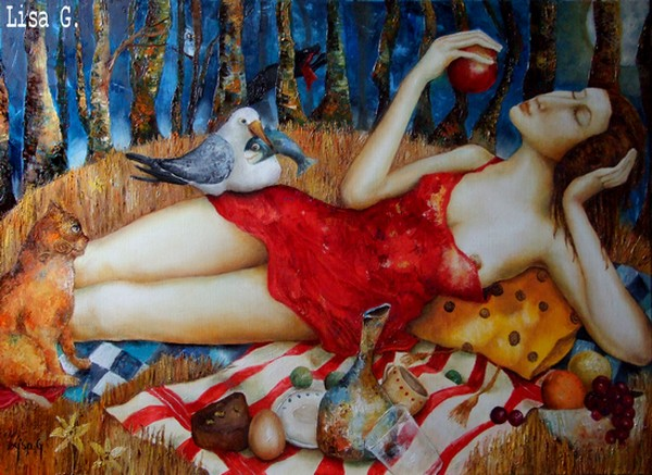Lisa G. - Canadian Figurative Surrealist painter