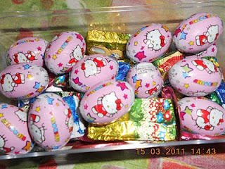 Hello Kitty Happy Easter chocolate egg gift box