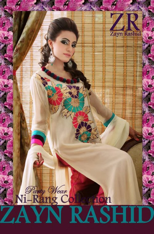 Latest Party Wear Spring 2014 Collection By Zayn Rashid-03