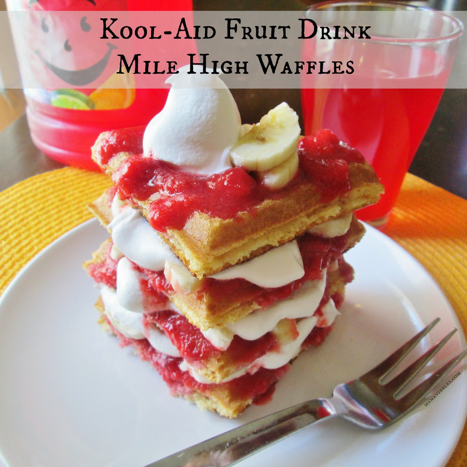Kool-Aid Fruit Drink Mile High Waffles #KoolOff #shop #cbias
