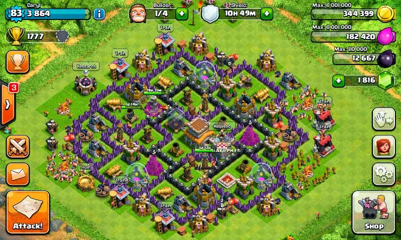 Trophy Base Clash of Clans TH 8 Terkuat