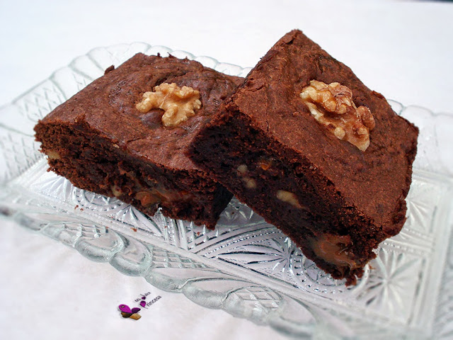 brownie, chocolate, dulce de leche, nueces, brownie con dulce de leche,
