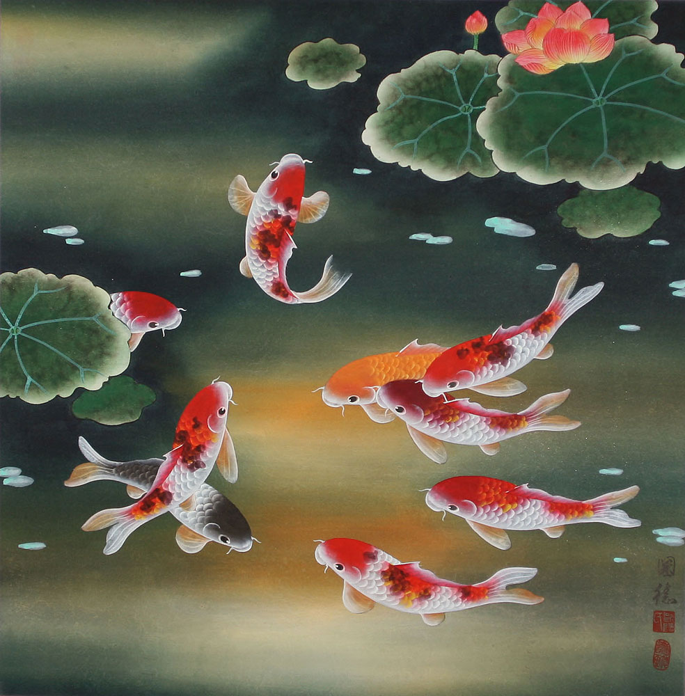 My dreams koi fish chinese paintings for Chinese coy fish