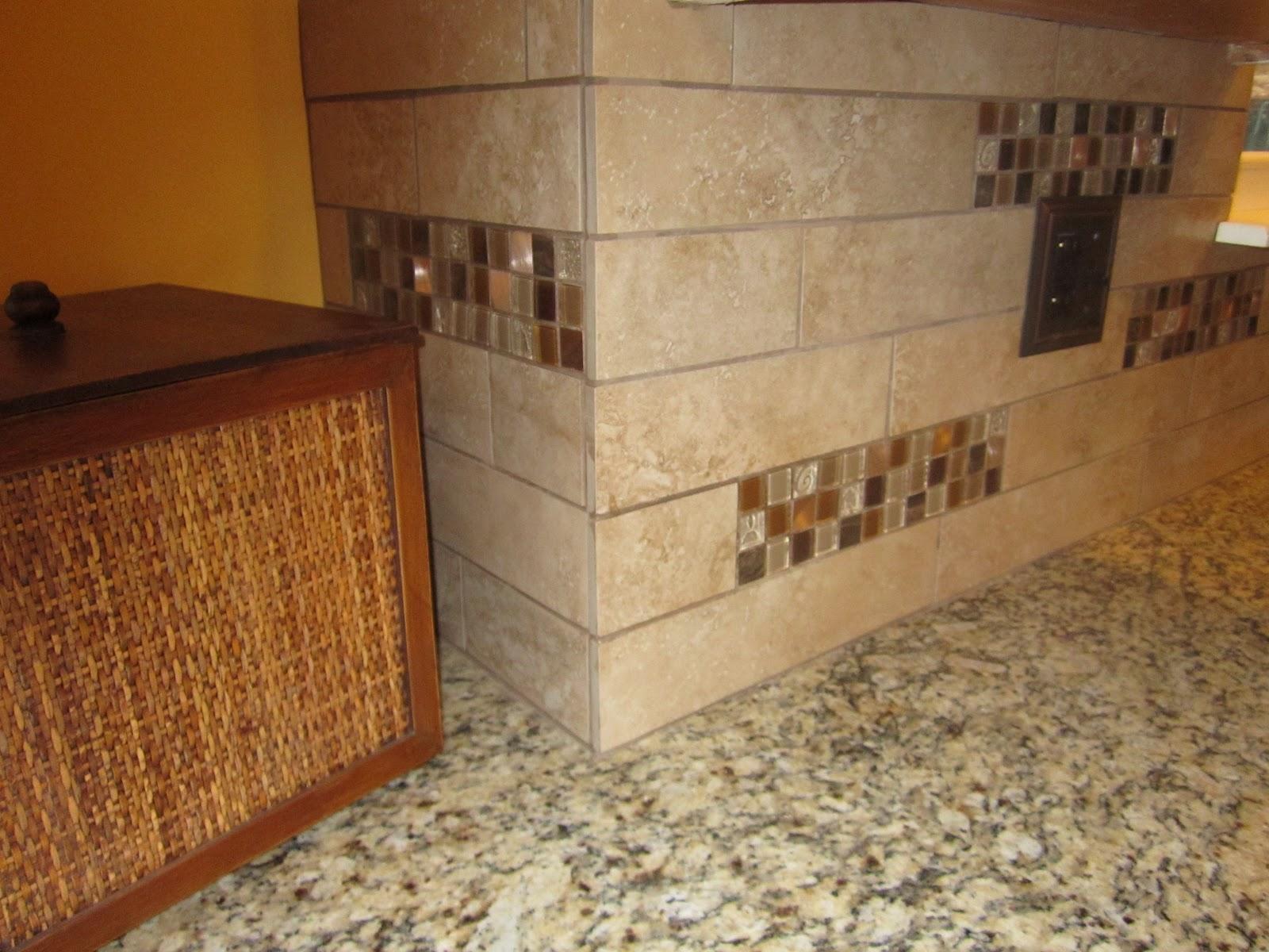 After close up of backsplash tile from heartland tile amp stone in