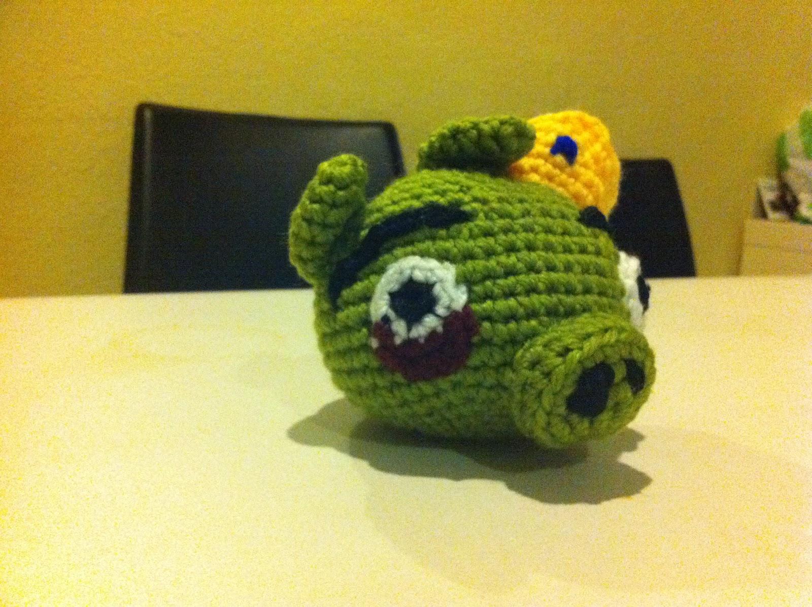 Cerdo Angry Birds Amigurumi : Mi mundo y Punto: Cerdo Rey de Angry Birds amigurumi