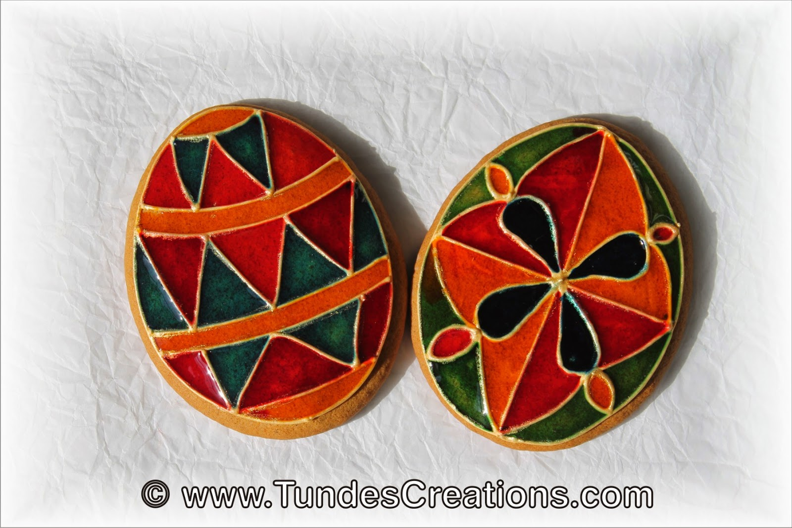 Stained Glass Easter Cookies by Tunde Dugantsi