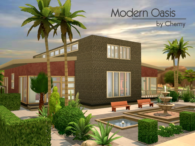 Modern Oasis Home Sims 4 Houses